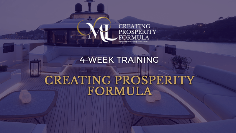 Creating Prosperity Formula with Millen Livis